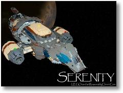 Eine Serenity aus LEGO gebaut...