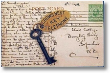 Titanic Schlüssel mit Postkarte