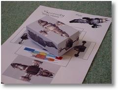 ein einfaches Papiermodell der Serenity
